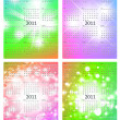Stock Vector: 2011 calendar template