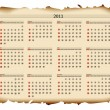 Royalty-Free Stock Vector Image: 2011 calendar template