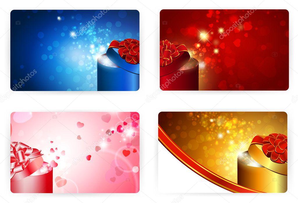 Gift Card Templates, 86X54Mm — Stock Vector © S_Razvodovskij #4813082