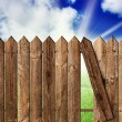 Wooden fence — Foto de Stock
