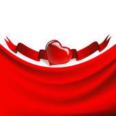 Drapierung herzrahmen — Stockvektor
