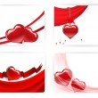 Vetorial Stock : Heart cards
