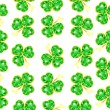 Royalty-Free Stock Vector Image: Seamless jewelry shamrock pattern
