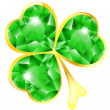 Royalty-Free Stock Vector Image: Jewelry shamrock