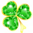 Stock Vector: Jewelry shamrock