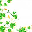St.Patrick floral frame - Stock Vector