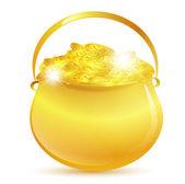 St.Patrick golden pot — Stock Vector
