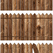 Stock Photo: Wooden fences set