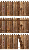 Wooden fences set — Stock Photo