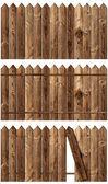 Wooden fences set — Stock Photo