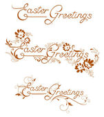 Easter Greetings — Stock Vector