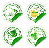 St.Patrick day labels — Stock Vector