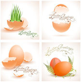 Easter postcards collection — Stock Vector