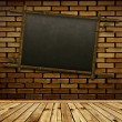 Bamboo blackboard - Stock Photo