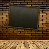 Bamboo blackboard — Stock Photo