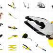 Tools over white — Stock Photo