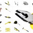 Tools over white — Stockfoto