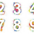 colorful numbers — Stock Photo