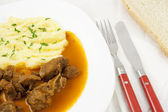 Goulash meal — Stock Photo