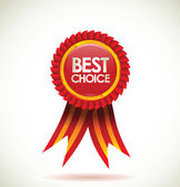 Blank label. best choice — Stock Vector