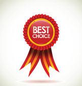 Lege etiket. beste keuze — Stockvector