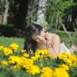 Stock Photo: Woman in flowers