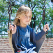 Girl swinging — Stock Photo #4177680