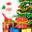 Christmas tree with many presents — Stock Photo