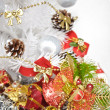 Stock Photo: Christmas tree and bells