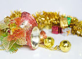 Christmas bells decoration New Year's ornaments — Stock Photo