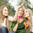 Three girls in the park — Stock Photo #4906814