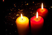 Três velas — Fotografia Stock