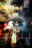 Cyfrowe oko — Zdjęcie stockowe