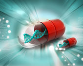 Dna in pill — Stock Photo