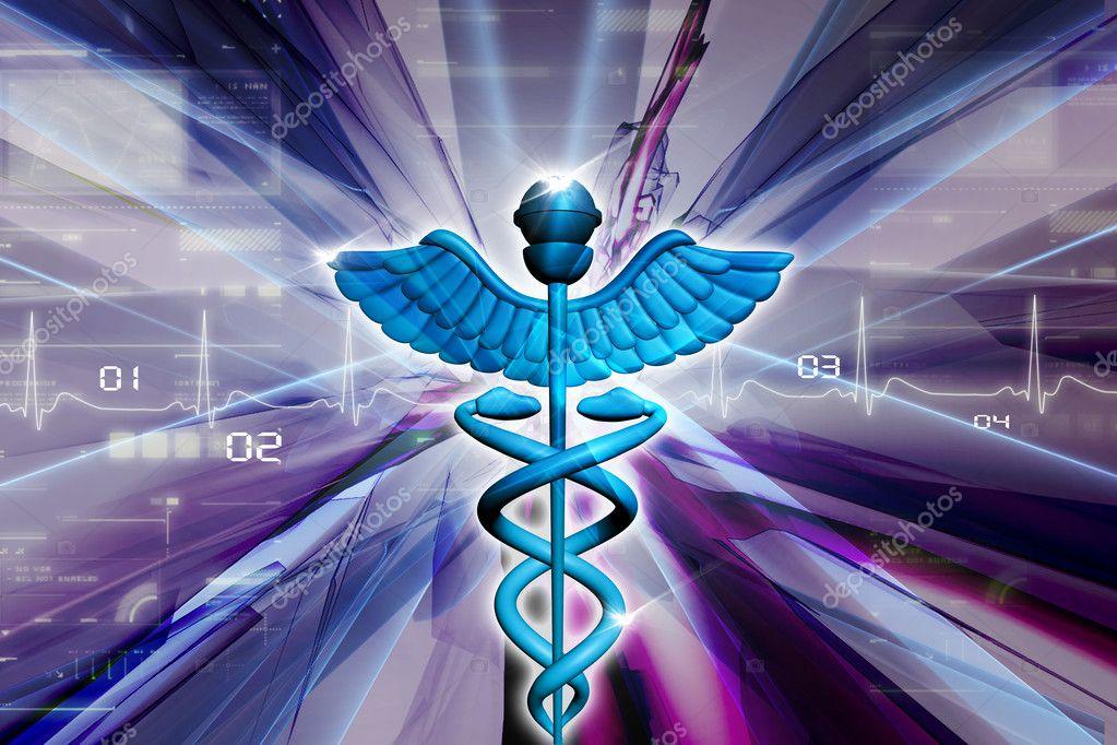Símbolo da medicina - imagem stock