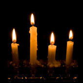 Candlelight Candles — Stockfoto