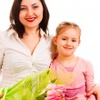 Stock Photo: Charming womwith daughter