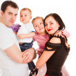 Charming married couple with two children — Stock Photo
