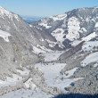 Winter in the alps - Stockfoto