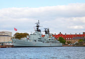 Danish warship — Stock Photo