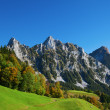 Autumn in swiss alps - Stock Photo