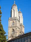 "Grossmunster"" cathedral in Zurich — Stock Photo"