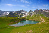 Summer alpine landscap — Stock Photo