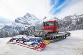 Machine for snow preparation — Stock Photo