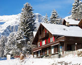 Winter in alps — Stock Photo