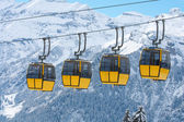 Row of cablecars — Stock Photo
