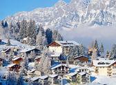Winter-ferienhäuser — Stockfoto
