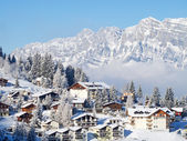 Winter vakantiehuis — Stockfoto