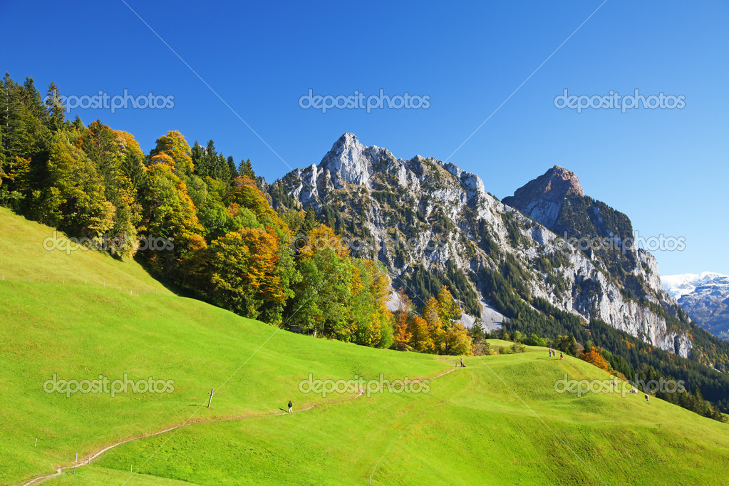 Autumn (indian summer) in swiss alps  Stock Photo #4924762
