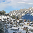 Winter in alps - Stock Photo